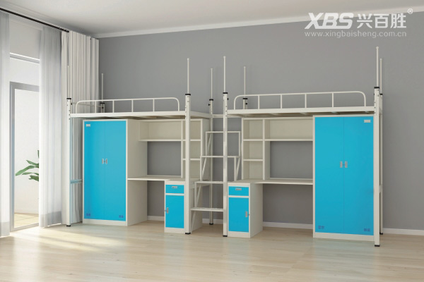 兴百胜宿舍公寓床生产厂家,双人位宿舍公寓床尺寸是多少