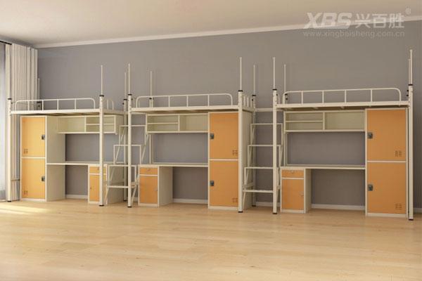 兴百胜公寓床生产厂家,宿舍三人位公寓床尺寸详情是多少