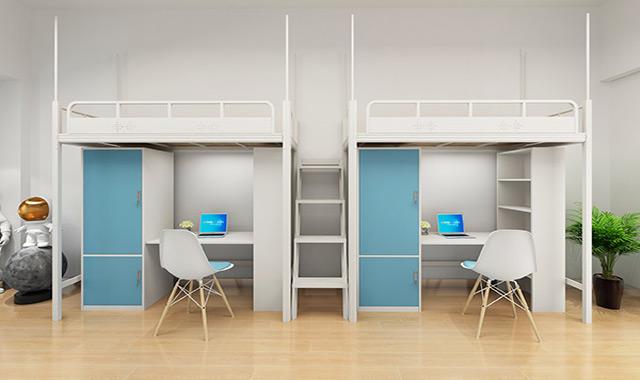 深圳兴百胜公寓床生产厂家,新款卡扣式结构公寓床更美观