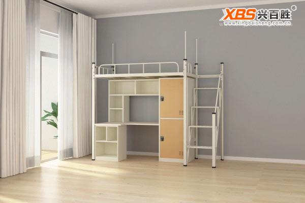 宿舍公寓床XBS03款,深圳兴百胜公寓床生产厂家