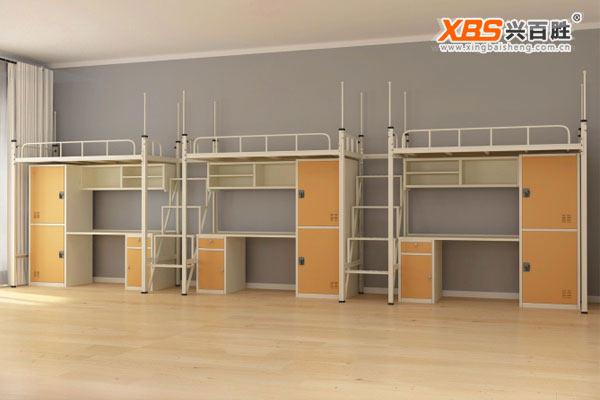 三连三人公寓床XBS09款,深圳上下床,上下床生产厂家