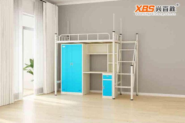 单人位公寓床上下床XBS12款,深圳兴百胜公寓床生产厂家