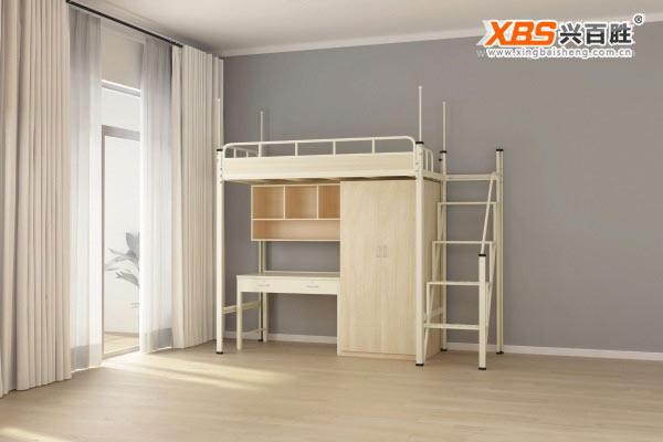 单人位公寓床铁床XBS15款,深圳兴百胜公寓床生产厂家