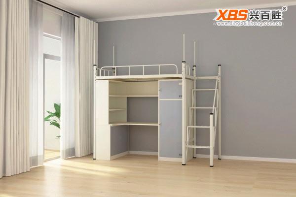 单人位公寓床,上下床XBS04,深圳兴百胜公寓床生产厂家