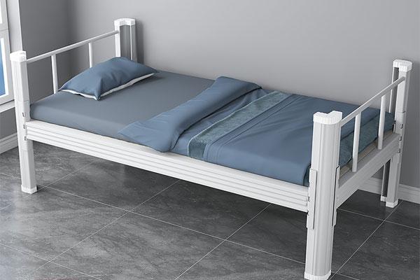 单人位公寓床铁床XBS18款,深圳兴百胜公寓床生产厂家