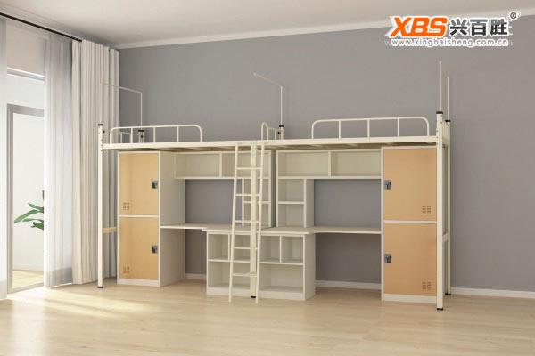 全拆装双人公寓床,上下床XBS19款,深圳公寓床,公寓床生产厂家