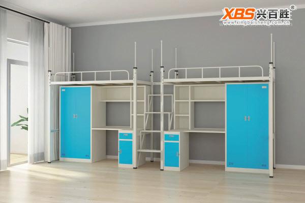 全拆装双人上下床,公寓床XBS21款,深圳公寓床,公寓床生产厂家