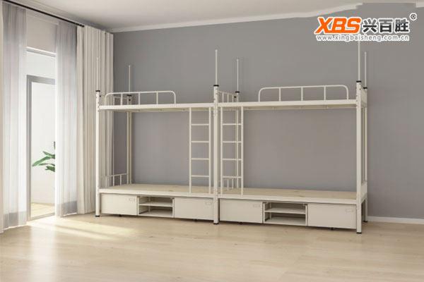 深圳兴百胜公寓床生产厂家,全拆装四人位公寓床,铁床XBS24款