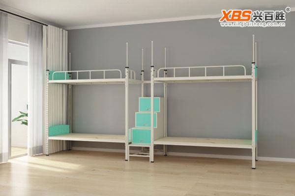 深圳兴百胜公寓床生产厂家,四人位上下床双层床公寓床XBS25款