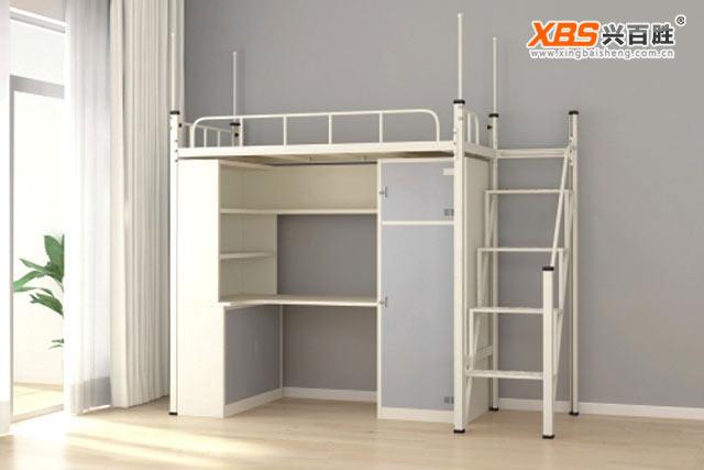 深圳兴百胜公寓床生产厂家,学生公寓床-双层学生公寓床厂家