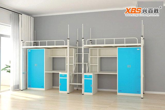 深圳兴百胜公寓床生产厂家,学生公寓床定做-宿舍公寓床定做