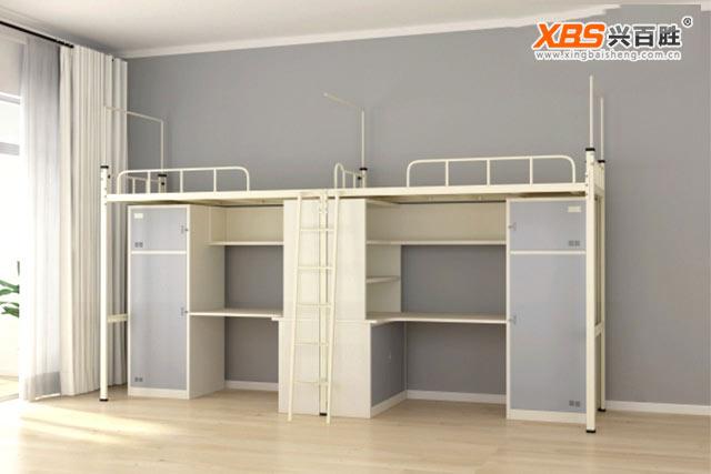 深圳兴百胜公寓床生产厂家,学生公寓床尺寸-学生宿舍公寓床标准