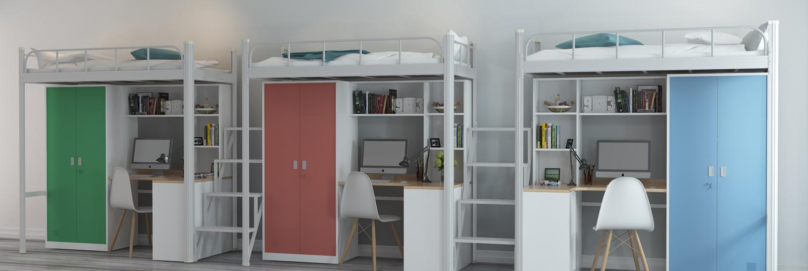供货稳定,货源充足,拥有全自动化生产设备,学生公寓床-上下双层床-宿舍铁床-公寓床生产厂家-深圳兴百胜,